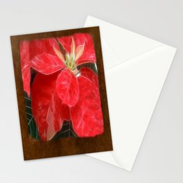 Mottled Red Poinsettia 1 Ephemeral Blank P3F0 Stationery Cards
