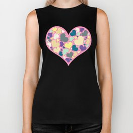Hearts and Dots Biker Tank