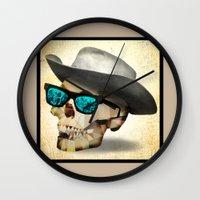 cowboy Wall Clocks featuring Cowboy by robweissillustration.com