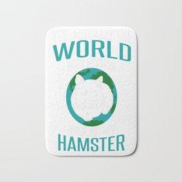 World-Does-Revolve-Around-My-Hamster Bath Mat