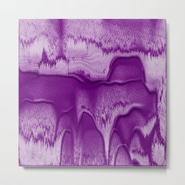 Abstract in Purple Metal Print