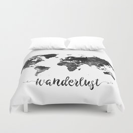 Wanderlust World Map Duvet Cover