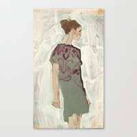 study Canvas Prints featuring Study by Suzanna Schlemm