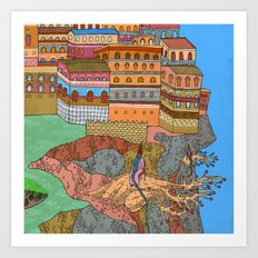 Cliff City Wizards Art Print