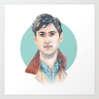 vampire weekend Art Prints featuring Ezra Koenig, Vampire Weekend by Megan Diño