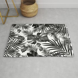 Tropical Jungle Leaves Pattern #10 (2020 Edition) #tropical #decor #art #society6 Rug