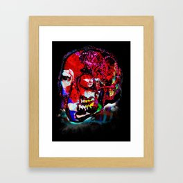 skull_mondrian Framed Art Print