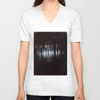 tape V-neck T-shirts featuring Tape by Brandon Lynch