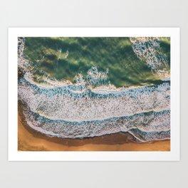 Golden waves, 2018 Art Print