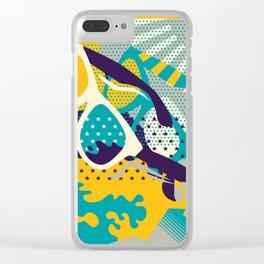 Retro Summer Clear iPhone Case