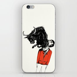 what is likely to happen when one is full of bull iPhone Skin