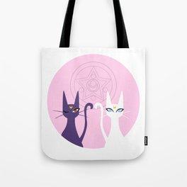 Lunar Cats - Pink Tote Bag