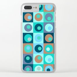 Circles and Squares Pattern 3 Clear iPhone Case