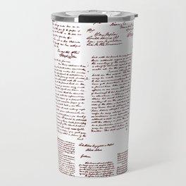 George Washington's Letters // Red Ink Travel Mug