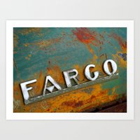 fargo Art Prints featuring Fargo by Photo by Malin Linder