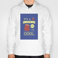 fez Hoodies featuring I Wear A Fez Now by Posters 4 Progress