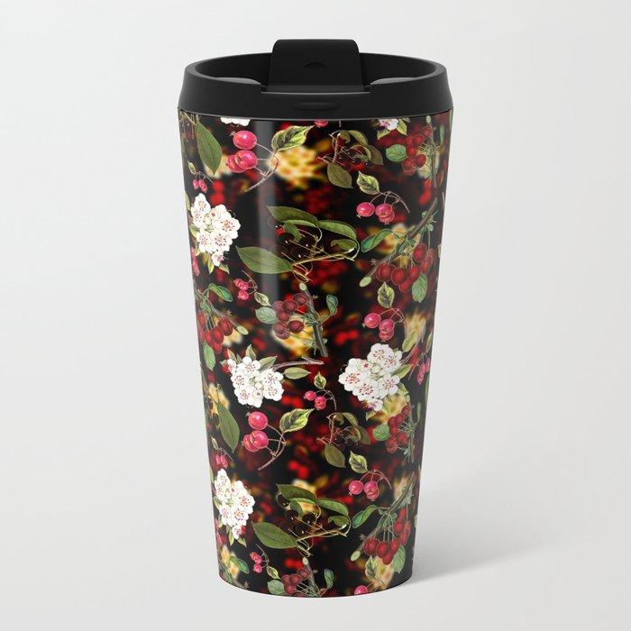Cherries with Blossoms Metal Travel Mug