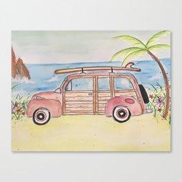 Surfin shoreline Canvas Print