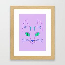 Funky Cat Framed Art Print