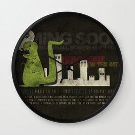 Dinosaur in the City Wall Clock