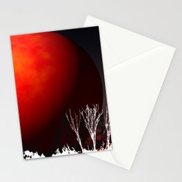 Blood Orange Moon Stationery Cards
