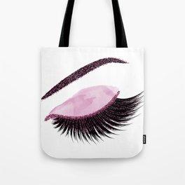 Glittery burgundy lashes Tote Bag