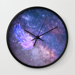 Jellyfish Space Exploration Wall Clock