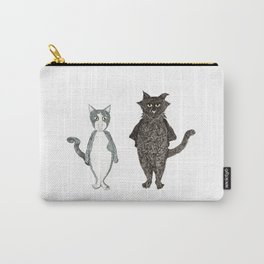 Pip and Pru cats Carry-All Pouch