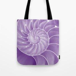 Ultra Violet Chambered Nautilus Tote Bag