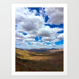 Clouds Over The Valley Art Print