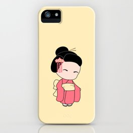 Tiny Ninja and Geisha iPhone Case