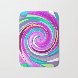 Purple twirl Bath Mat