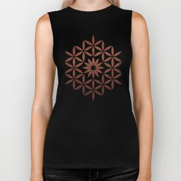 The Flower of Life - Ancient copper Biker Tank