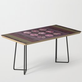 Red Shiso Positive Messages Quilt Art Coffee Table