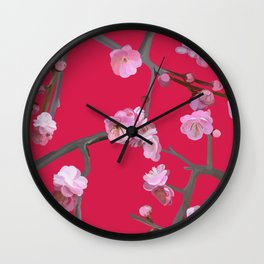Plum blossom pattern Cherry Tomato Wall Clock