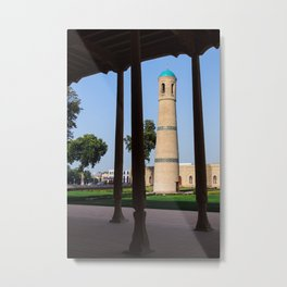 The Jami Mosque minaret in Kokand - Uzbekistan Metal Print