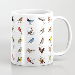 50 State Birds (White) Coffee Mug