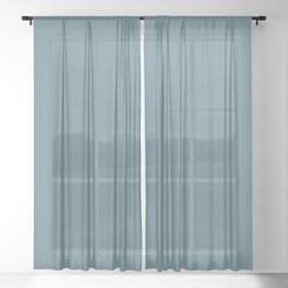 Behr Paint Blueprint S470-5 Color of the Year 2019 - Solid Color Sheer Curtain