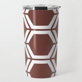 Bole - brown - Geometric Polygon Pattern Travel Mug