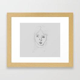 Water Girl Framed Art Print
