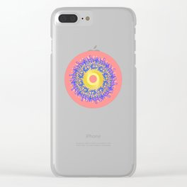 Mandala #105, Peach and Sunshine Clear iPhone Case