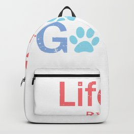 life is really good retro cat mom gift Kitty Pet cats lover T-Shirt Backpack