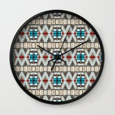 Manhattan Hieroglyphics Wall Clock