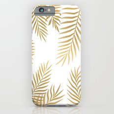 Gold palm leaves iPhone 6 Slim Case