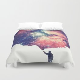 Painting the universe (Colorful Negative Space Art) Duvet Cover