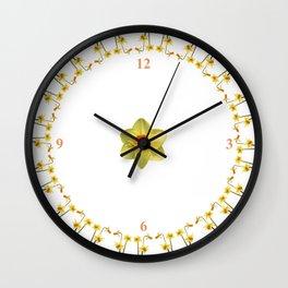 Daffodil Madness Wall Clock