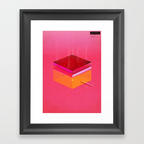 Toast: Facebook Shapes & Statuses Framed Art Print