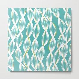 Deep Summer - Blue Seaweed Metal Print