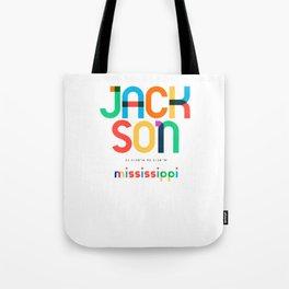 Jackson Mississippi Mid Century, Pop Art, Tote Bag