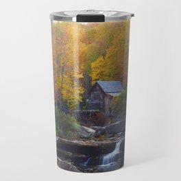 Glade Creek Mill in Autumn Travel Mug